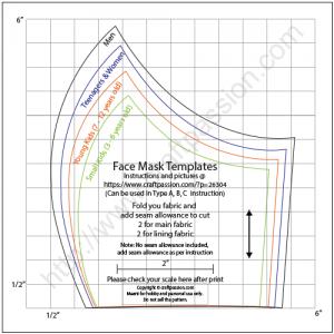 الگوی ماسک / دوختن ماسک / الگوی دوخت ماسک